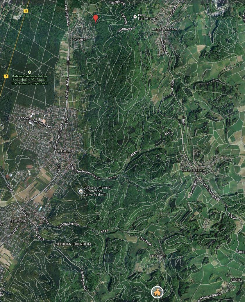Karte Lamatour