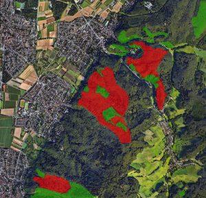 Karte der Kernflächen HessenForst Nov 2016