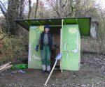 Gerätehütte im Wühlmausgarten