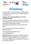 Einladung zum Aktionsvormittag am 3. November im Wühlmausgarten