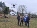 Trainingslauf mit der NAJU-Drohne
