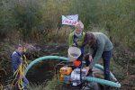 Hermelinweiher wird abgefischt