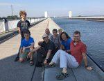 Abreise von der Elbe-Paddeltour