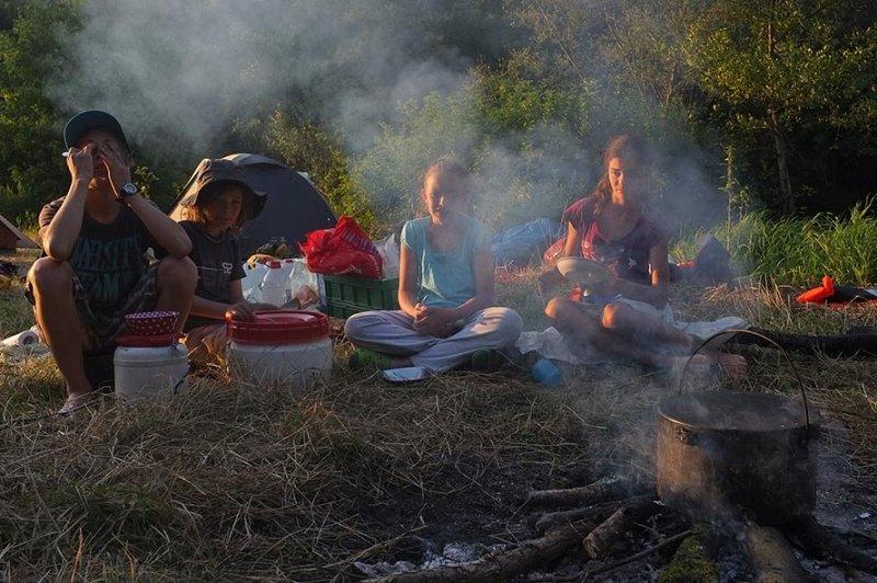 Lager am Dreiecksfelsen - Abendessen 01