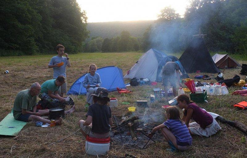 Lager am Dreiecksfelsen - Abendessen 05