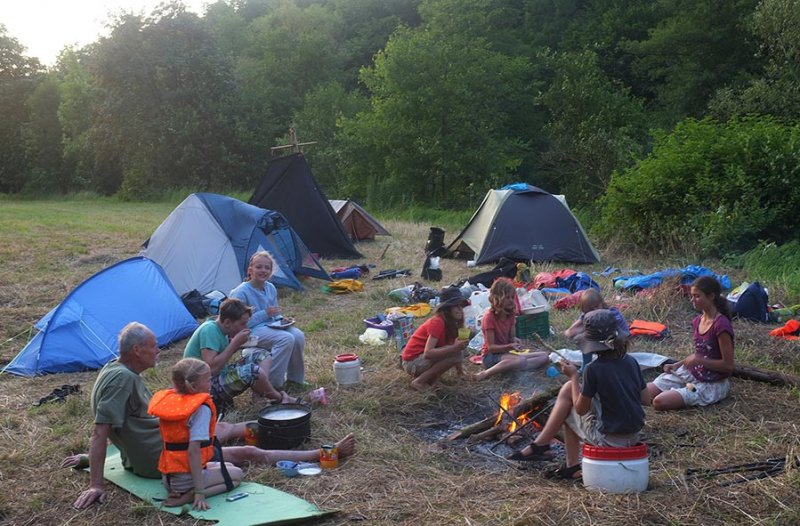 Lager am Dreiecksfelsen - Abendessen 08
