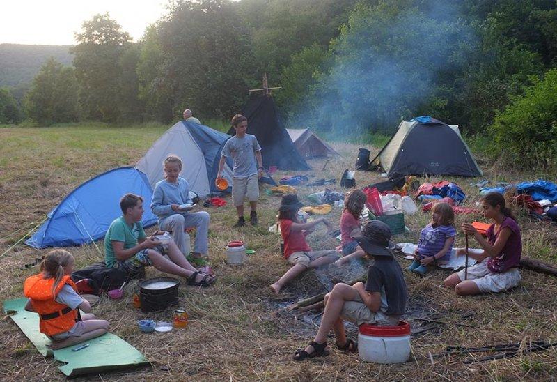 Lager am Dreiecksfelsen - Abendessen 10