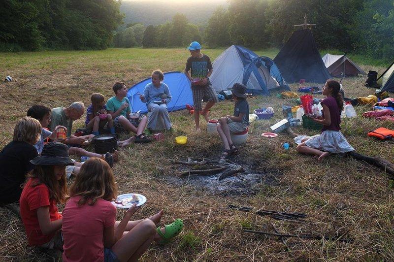 Lager am Dreiecksfelsen - Abendessen 11