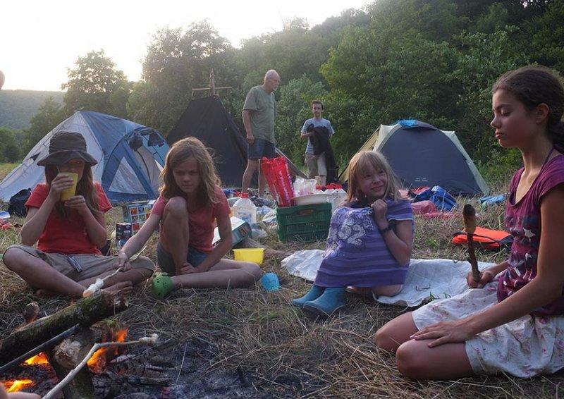 Lager am Dreiecksfelsen - Abendessen 12