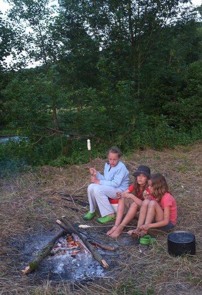 Lager am Dreiecksfelsen - Abendessen 13