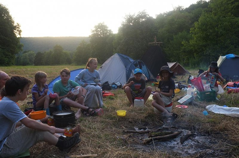 Lager am Dreiecksfelsen - Abendessen 17