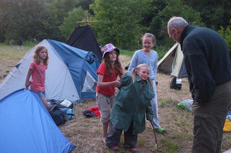 Lager am Dreiecksfelsen - Besuch vom Opa