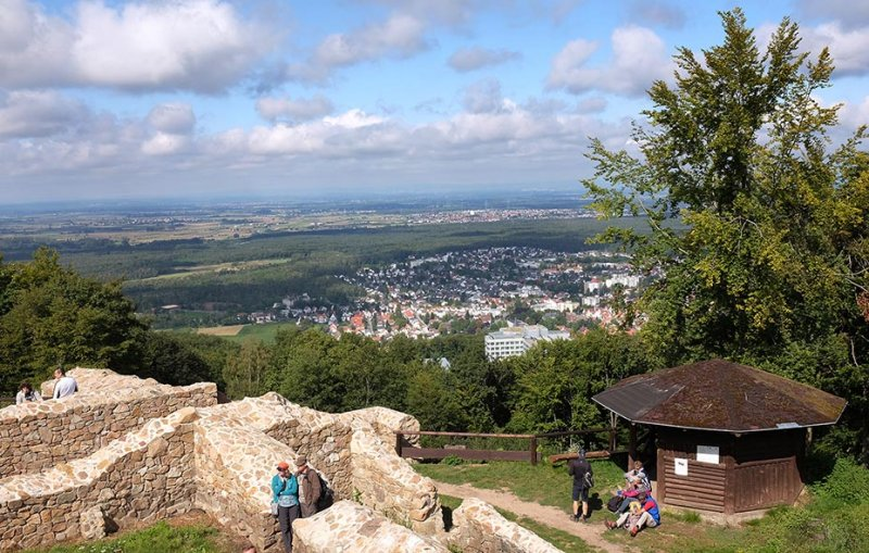 Einweihung Burgfried Tannenburg - Panorama Seeheim 2