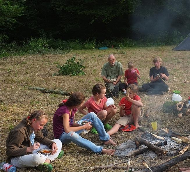 Lagerfeuer am Dreiecksfelsen 12