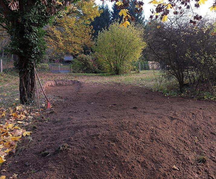 Graben für Steinschüttung 2