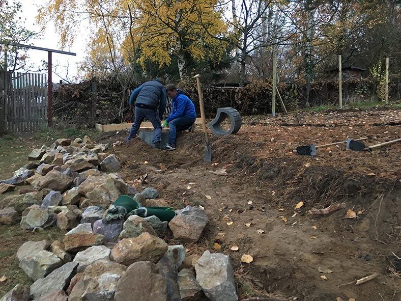 Trockensteinmauer Wühlmausgarten 03