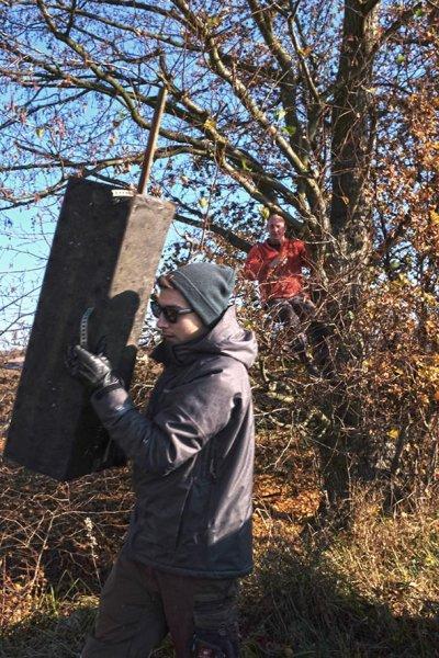 Kontrolle und Abbau von Steinkauzkästen bei Hähnlein 04 10x15s