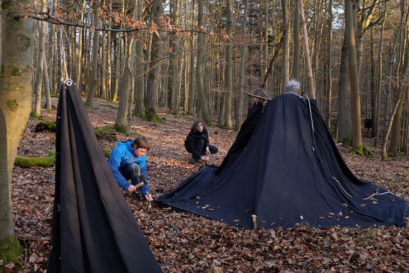 Aufbau Wühlmaus-Lager 06