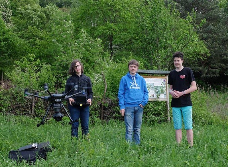 Drohnen-Training auf der Bienenweide 2