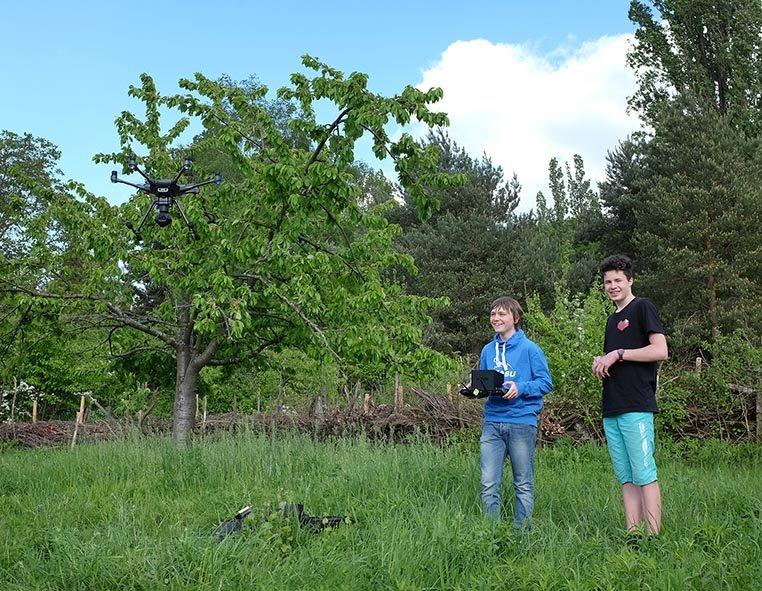 Drohnen-Training auf der Bienenweide 4