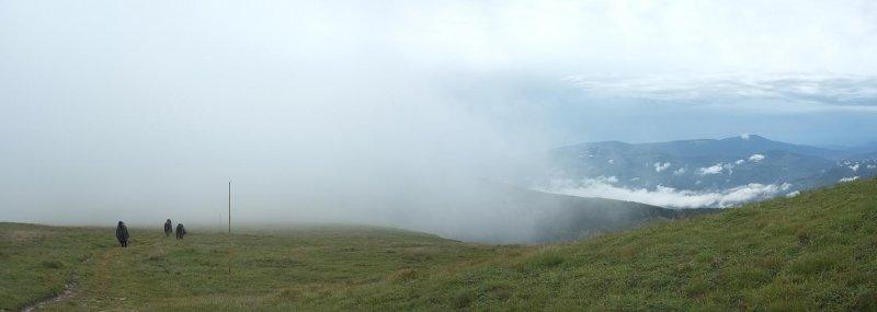 03 Kamm Niedere Tatra Marsch im Regen