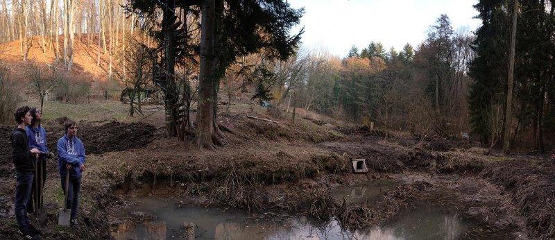 Erdarbeiten mit NAJUs auf den Etzwiesen 2 10x23s
