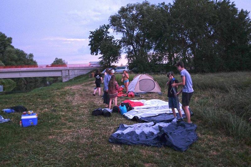 Lager bei Ostheim am Abend 4