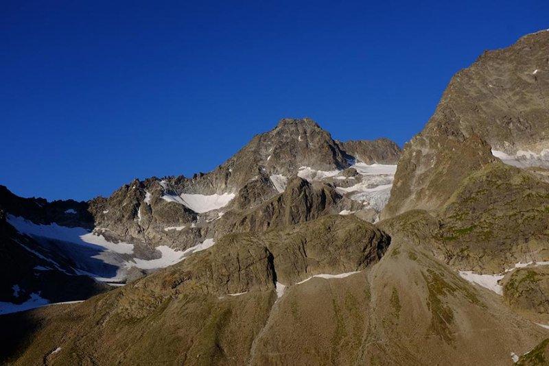 02 Gletscherpanorama vom Schlaflager Darmstädter Hütte