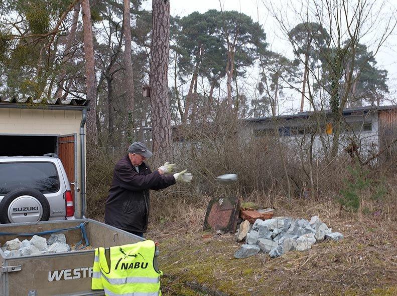 Bau Natursteinhügel 1 10x13s