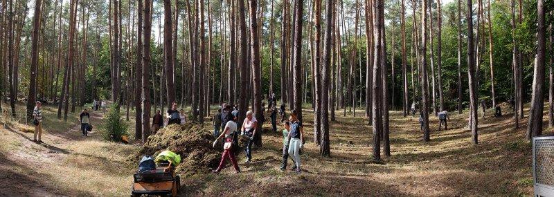 Pflegeeeinsatz im Seeheimer Wald - Harken 13 10x28s
