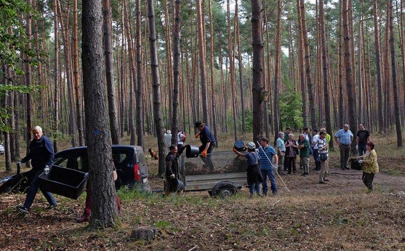 Pflegeeeinsatz im Seeheimer Wald - Harken 3 10x15s