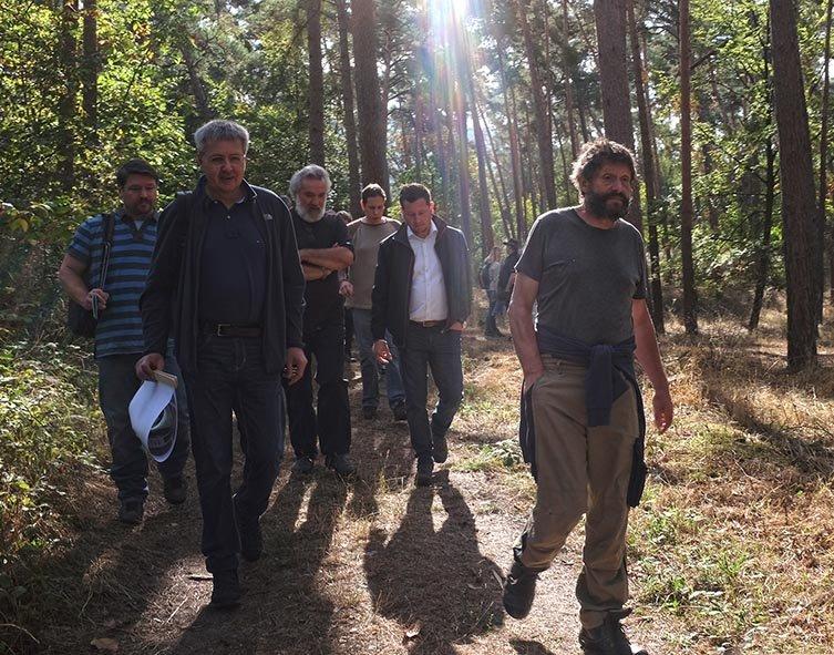 Pflegeeeinsatz im Seeheimer Wald - Marsch zum Einsatz 2 10x13s