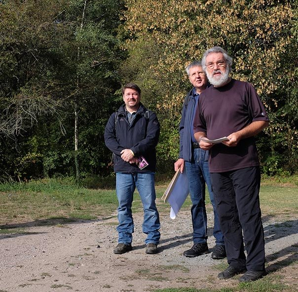 Pflegeeeinsatz im Seeheimer Wald - Rede Christel Fleischmann 1 10x10s