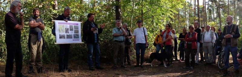 Pflegeeeinsatz im Seeheimer Wald - Rede Michael Stroh 8 10x31s