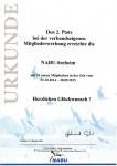 NABU-Urkunde für erfolgreiche Mitgliederwerbung an NABU Gruppe Seeheim-Jugenheim e.V.