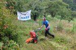 Pflegeeinsatz auf den Orchideenwiesen am Seeheimer Blütenhang