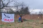 Pflegeeinsatz auf der Wiese am Landgraben Hähnlein