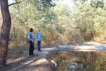 Amphibienteich Malcher Tanne erhält Uferabdeckung