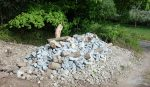 Steinschüttung für Reptilienschutz