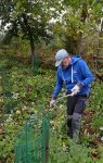 Waldpflege-Aktion am Waldfriedhof Seeheim