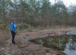 Teichpflege am Waldteich in der Malcher Tanne