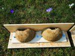 Selbst gebaute Schwalbennester für Balkhausen