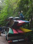 Bootswagen und Hühnerleiter
