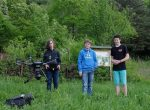 Drohnentraining auf der Bienenweide