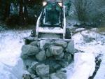 Steinschüttung für die Schlingnatter