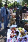 Pflanzenflohmarkt in Seeheim: NABU Apfelpresse im Einsatz
