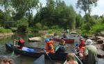 Paddeltour durch die Urwälder am Rhein