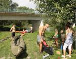 Die Hermeline auf dem Rhein bei Stockstadt