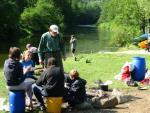 1.7.2011 - von Loket nach Karlsbad Wildes Camping an schöner Stelle im Wald hinter Karlsbad.